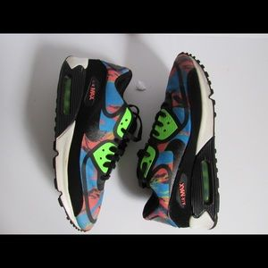 new product 4d63e e8b75 Shoes - Nike Air Max 90 Prem 599249-403 Camo Flash Lime
